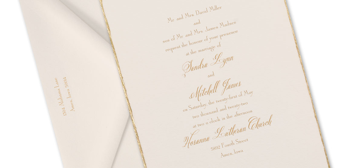 How to Word Your Wedding Invitations – Both Parents Inviting