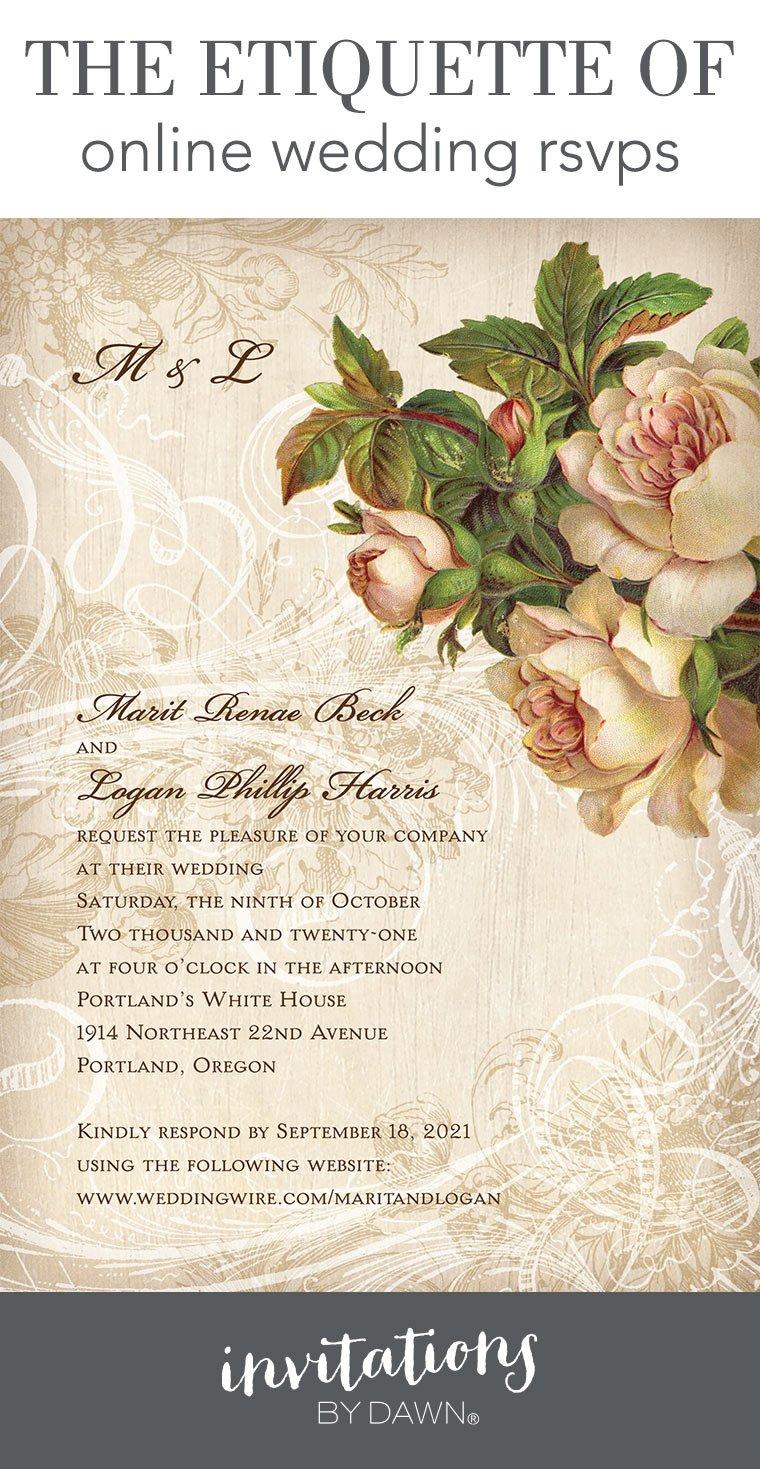 Online Wedding Rsvps Etiquette Invitations By Dawn