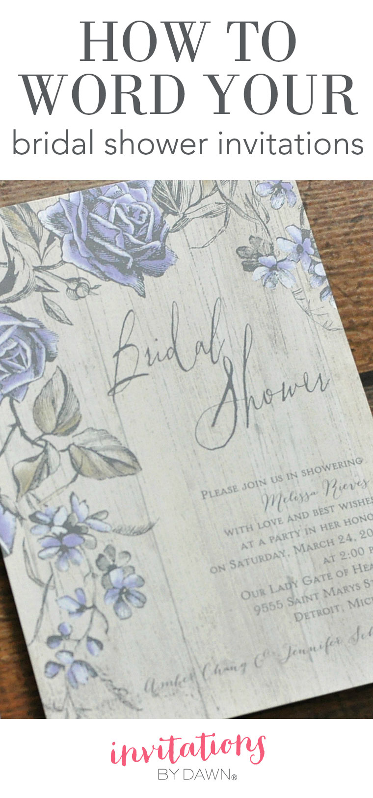 How to Word Your Bridal Shower Invitations