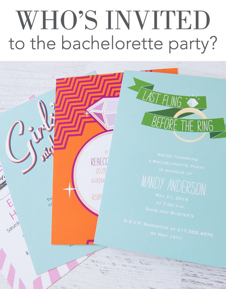 Who's invited to the bachelorette party?