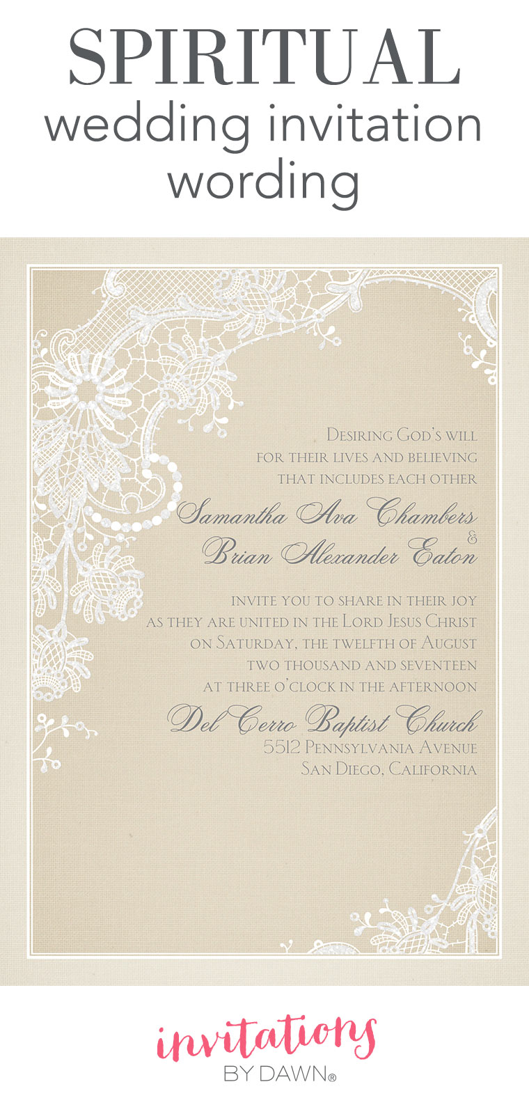 wording christian wedding invitation cards
