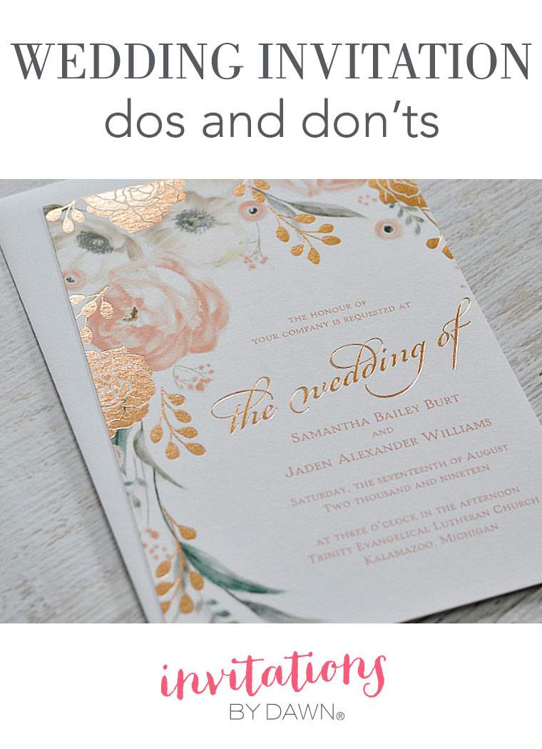 Wedding Invitation Dos and Don'ts