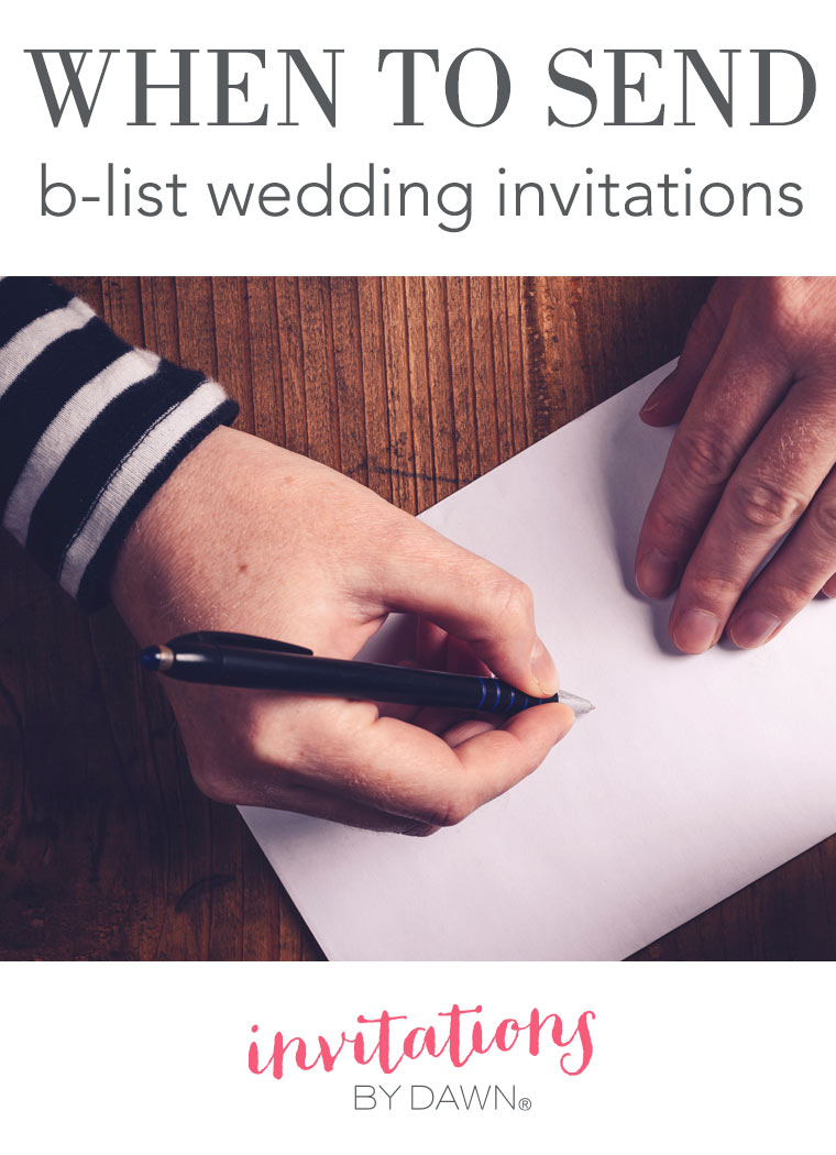 When to Send B-List Wedding Invitations