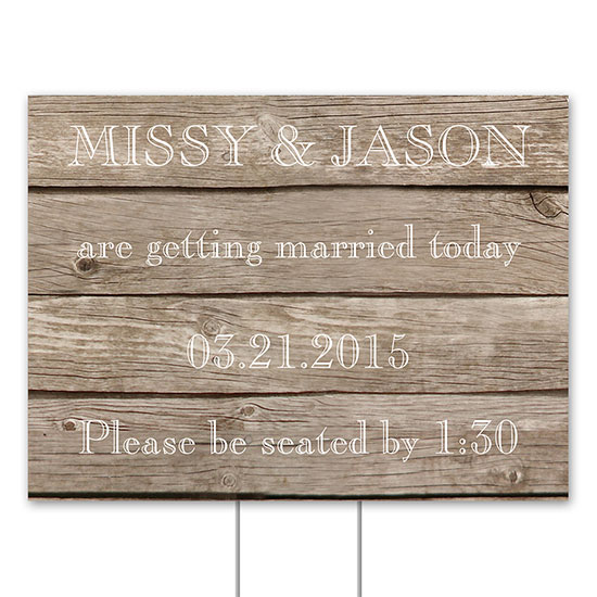 Wedding Personalized Yard Signs