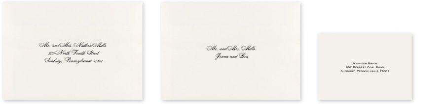 Wedding Envelope Printing