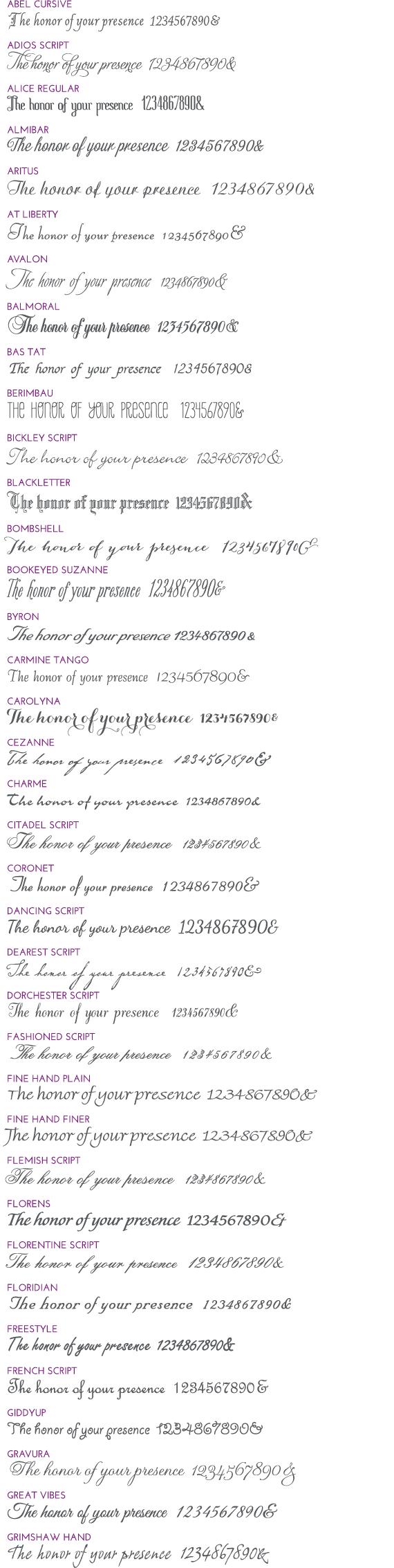 Script Fonts 1