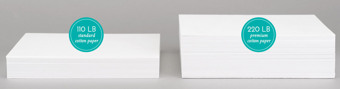 Letterpress Paper Stacks