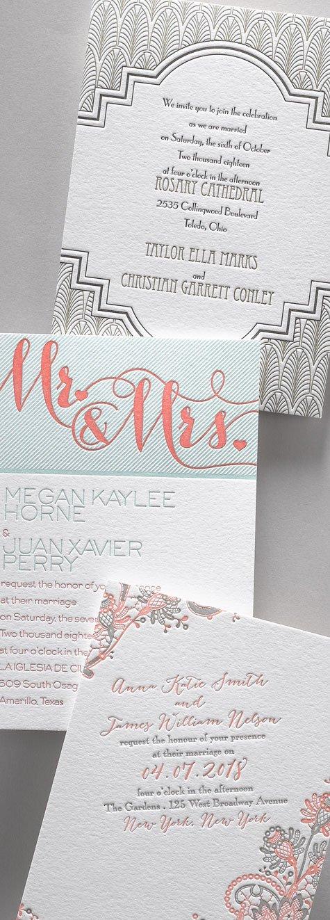 Letterpress Wedding Invitations Sidebar Image