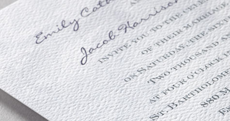 110 lb Signature Textured Paper