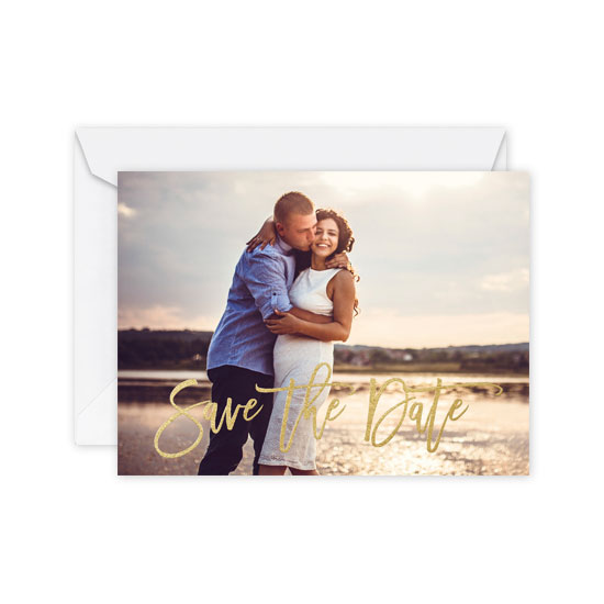 Foil Stamped Save the Dates