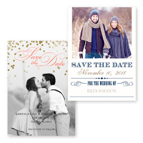 Typography Save the Dates