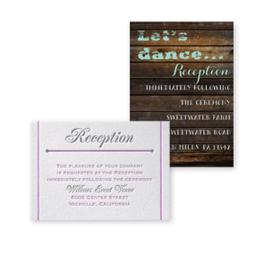 Wedding Reception and Information Cards