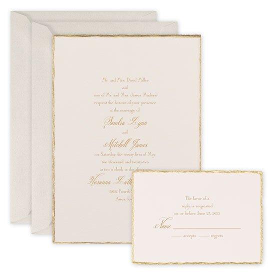 Gold Wedding Invitations