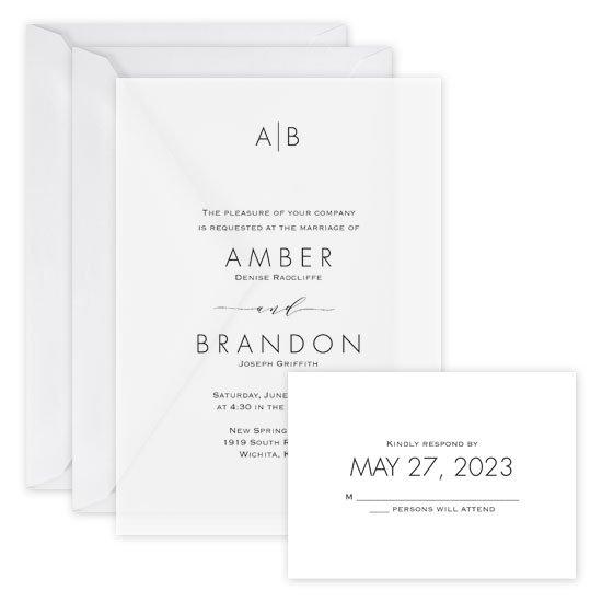 Minimalist Wedding Invitations