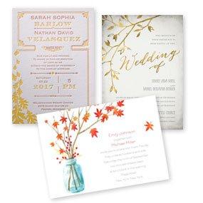 Autumn and Fall Wedding Invitations
