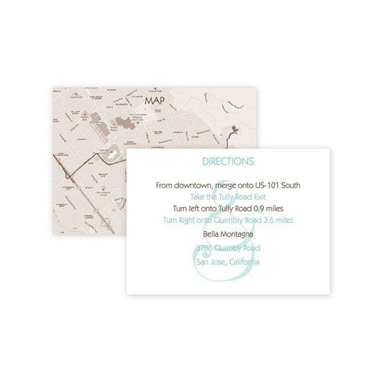 Wedding Map Cards