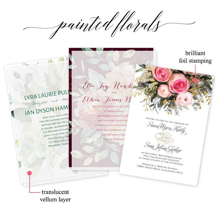 Rustic Wedding Wedding Invitations Pink Flowers Rustic Wedding Invitation Set Printed Invites or Digital Printable with FREE SHIP
