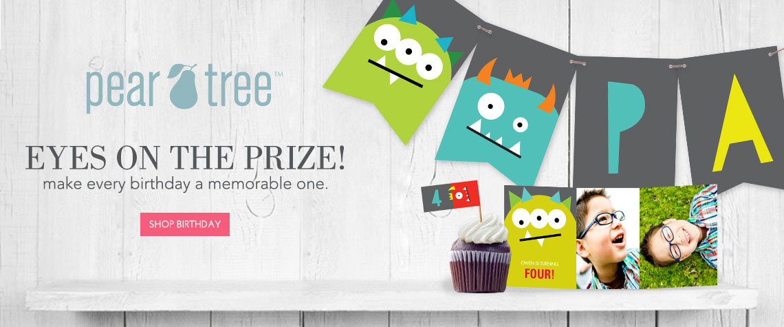 Pear Tree Birthday Party Invitations