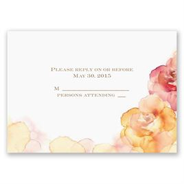 Watercolor Roses - Yellow - Respond Card and Envelope