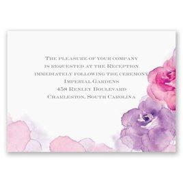 Watercolor Roses - Purple - Reception Card