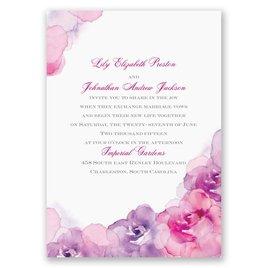 Watercolor Roses - Purple - Invitation