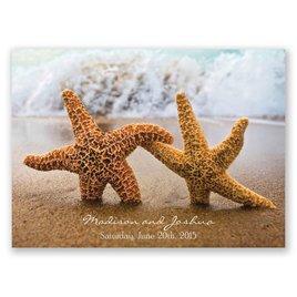 Wedding Response Cards: Starfish Response Postcard