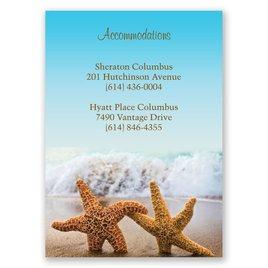 Beach: Starfish Accommodations Card