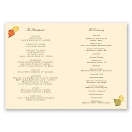 Touch of Autumn - Program