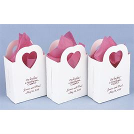 Personalized Heart Handled Favor Boxes
