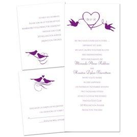 Pretty Birds - 3 for 1 Invitation