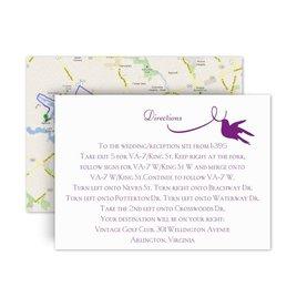 Wedding Map Cards: Pretty Birds Map Card