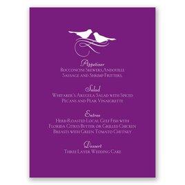 Wedding Menu Cards: Pretty Birds Menu Card