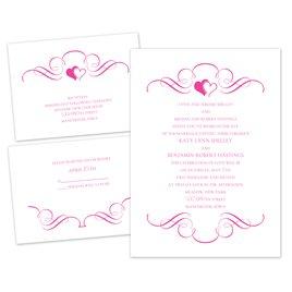 Wedding Invitations: Loving Filigree - 3 for 1 Invitation