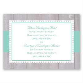 Rustic Fence - Accommodations Card