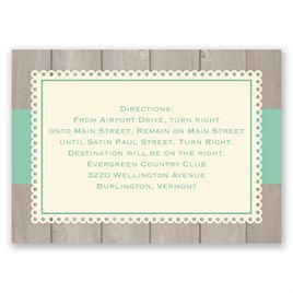 Rustic Fence - Ecru - Map Card