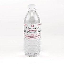 Wedding Favors: Bold Poster Water Bottle Label