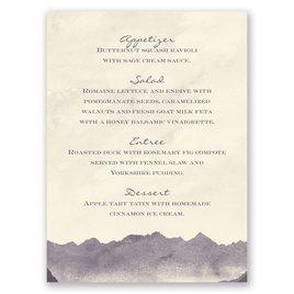 Mountain Mist - Ecru - Menu Card
