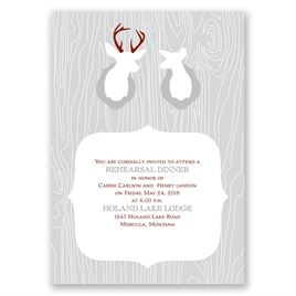 Buck & Doe - Rehearsal Dinner Invitation