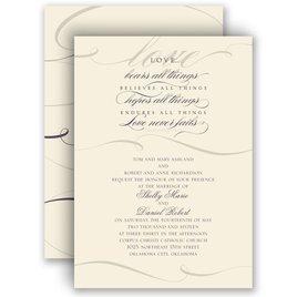 Wedding Invitations: Love Never Fails - Invitation