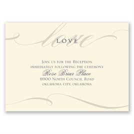 Love Never Fails - Ecru - Reception Card