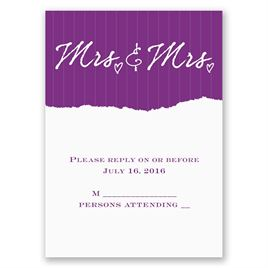 Mrs. and Mrs. - Response Card and Envelope