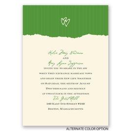 Mrs. and Mrs. - Ecru - Invitation