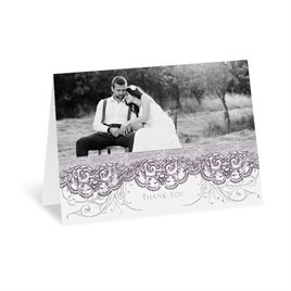 Vintage Thank You Cards: Lacy Flourishes Thank You Card