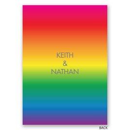 Rainbow Love - Invitation
