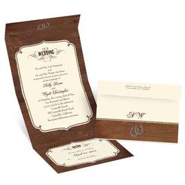 Rustic Wedding - Ecru - Seal and Send Invitation