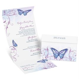 Beautiful Butterflies - Grapevine - Seal and Send Invitation