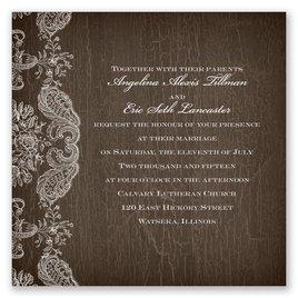Rustic Lace - Invitation