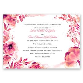 Watercolor Dream - Posie Pink - Invitation