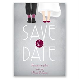Dancing Shoes - Mr. and Mrs. - Save the Date Card