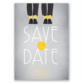 Dancing Shoes - Mr. and Mr. - Save the Date Card